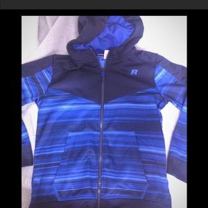 Boy's size 10-12 RUSSELL full-zip w/ fleece lining